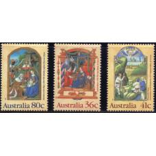 1989, ноябрь. Набор почтовых марок Австралии. Рождество
