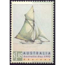 1992, январь. Почтовая марка Австралии. День Австралии. Парусники, 1.05$