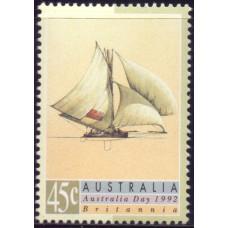 1992, январь. Почтовая марка Австралии. День Австралии. Парусники, 45С