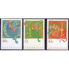1993, ноябрь. Набор почтовых марок Австралии. Рождество