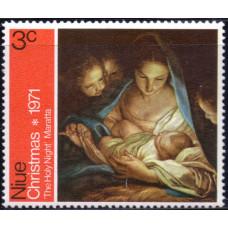 1971, октябрь. Почтовая марка Ниуэ. Рождество, 3С