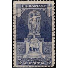 1926, май. Почтовая марка США. Мемориал Джона Эрикссона, 5 центов