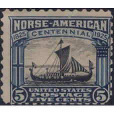 1925, май. Почтовая марка США. Норвежско-американский выпуск, 5 центов