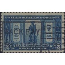 1925, апрель. Почтовая марка США. Выпуск Лексингтон-Конкорд, 5 центов