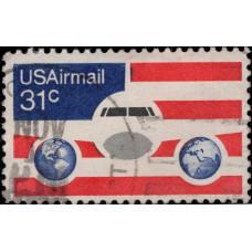 1976, январь. Почтовая марка США. Самолеты - Авиапочта, 31C