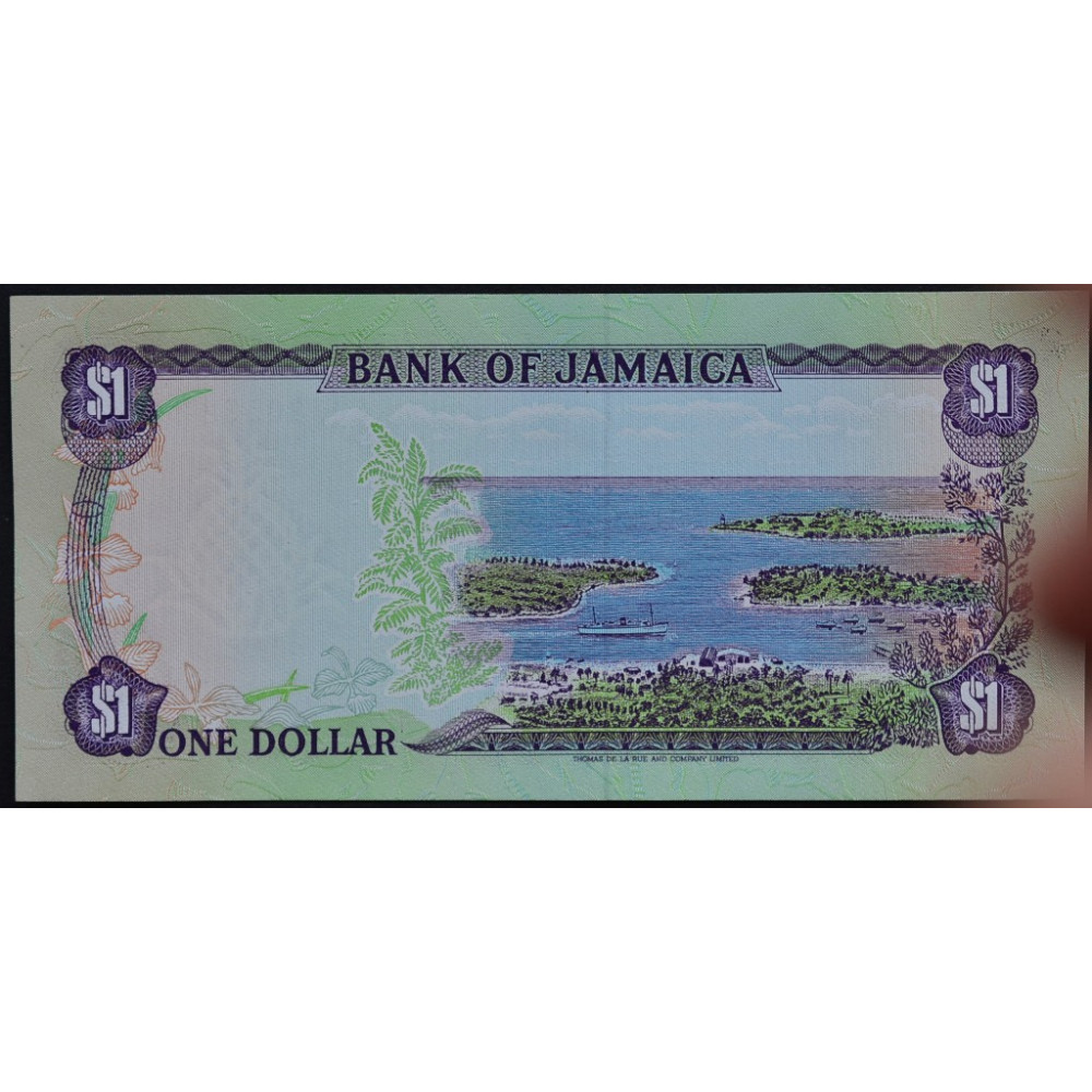 1 доллар 1990 Ямайка -  1 dollar 1990 Jamaica