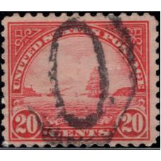 1923, май. Почтовая марка США. Золотые Ворота - картина В.А. Коултера, 20 центов