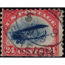 1918. Почтовая марка США. Авиапочта, 24 цента