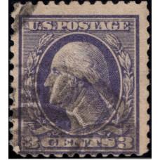 1908. Почтовая марка США. Джордж Вашингтон, 3 цента