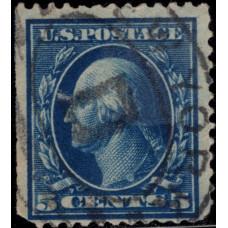 1908. Почтовая марка США. Джордж Вашингтон, 5 центов