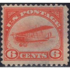 1918. Почтовая марка США. Авиапочта, 6 центов