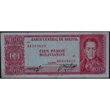 100 песо 1962 Боливия - 100 pesos 1962 Bolivia