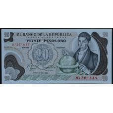 20 Песо 1982 Колумбия - 20 Pesos Oro 1982 Colombia