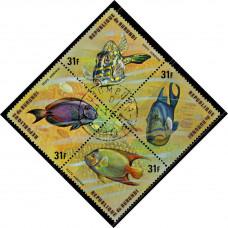 1974, сентябрь. Почтовая марка Бурунди. Рыбы, 31Fr