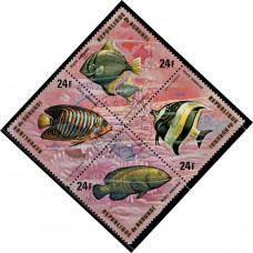 1974, сентябрь. Почтовая марка Бурунди. Рыбы, 24Fr
