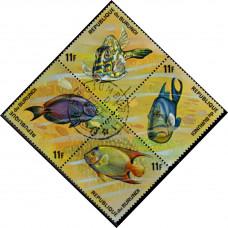 1974, май. Почтовая марка Бурунди. Рыбы, 11Fr