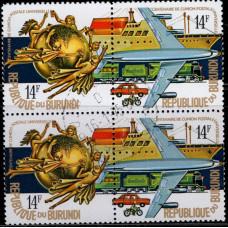 1974, июль. Почтовая марка Бурунди. 100-летие Всемирного почтового союза, 14Fr
