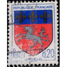 1966, декабрь. Почтовая марка Франции. Герб, 0.20Fr