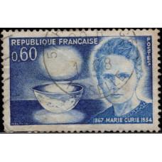 1967, октябрь. Почтовая марка Франции. 100 лет со дня рождения Марии Кюри, 0.60Fr