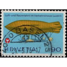 1975, февраль. Почтовая марка Швейцарии. 100-летие Международной метрической конвенции, 90