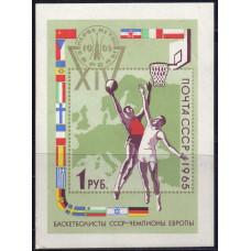 1965, октябрь. XIV первенство Европы по баскетболу