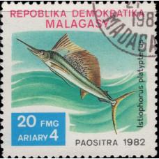 1982, декабрь. Почтовая марка Мадагаскара. Рыбы, 20Fr