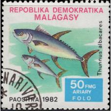 1982, декабрь. Почтовая марка Мадагаскара. Рыбы, 50Fr