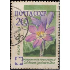 1960, ноябрь. Почтовая марка СССР. Цветы, 20 копеек