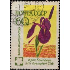 1960, ноябрь. Почтовая марка СССР. Цветы, 60 копеек
