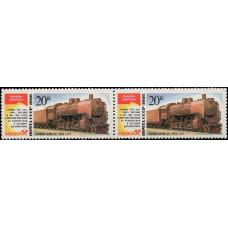 1986, октябрь. Почтовая марка СССР. Паровозы, 20 коп