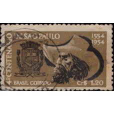 1953, январь. Почтовая марка Бразилии. 400-летие Сан-Паулу, 1.20Cr
