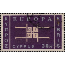 1963, ноябрь. Почтовая марка Кипра греческого. Европа, 20M