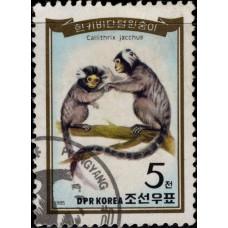 1985, июнь. Почтовая марка Северной Кореи (КНДР). Приматы, 5Ch