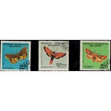 1984, август. Набор почтовых марок Мадагаскара. Бабочки