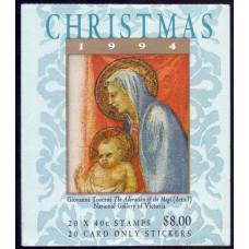 1994, октябрь. Почтовая марка Австралии (буклет). Рождество, 40