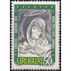 1973, декабрь. Почтовая марка Уругвая. Рождество, 50