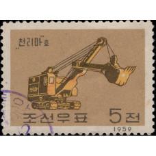 1959. Почтовая марка Северной Кореи (КНДР). Машиностроение, 5Ch