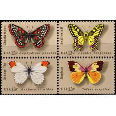 1977, июнь. Квартблок США. Бабочки, 13C