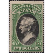 1873. Почтовая марка США. Государственный департамент эмиссии, 2$