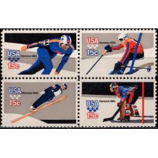 1980, февраль. Квартблок США. Зимние Олимпийские игры - Лейк-Плэсид, США. 15C