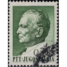 1968, июнь. Почтовая марка Югославии. Президент Тито, 0.30