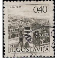 1972, октябрь. Почтовая марка Югославии. Достопримечательности, 0.40