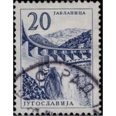 1961. Почтовая марка Югославии. Технологии и Архитектура, 20