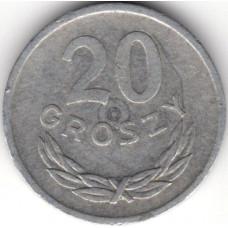 20 грошей 1972 Польша - 20 groszy 1972 Poland, из оборота