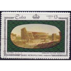 1971. Почтовая марка Кубы. Museo Metropolitano Havana. 13