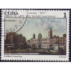 1977. Почтовая марка Кубы. Obras de Arte del Museo Nacional, 1