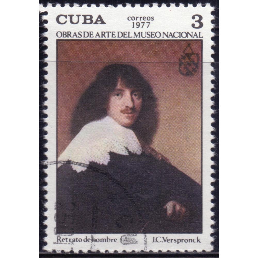1977. Почтовая марка Кубы. Obras de Arte del Museo Nacional, 3