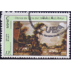 1978. Почтовая марка Кубы. Obras de Arte del Museo Nacional, 13