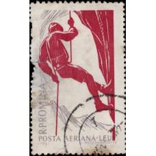 1961, март. Почтовая марка Румынии. Зимние виды спорта, 1L