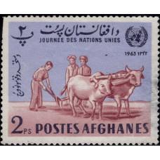 1964, март. Почтовая марка Афганистана. День ООН, 2P